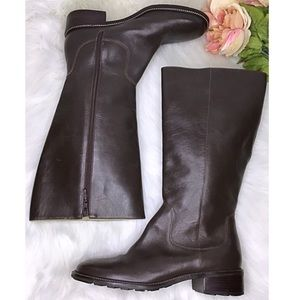L.L. Bean knee high leather campus boots